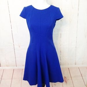 Eliza J Fit & Flare Blue Career Dress Size 4